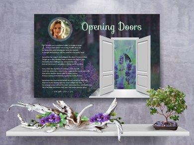 Poster Opening Doors Purple Wildflower Canvas Gallery Wrapped Art Poem