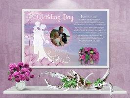 36 x 24 Beach Cally Lilly Personalized Wedding Art Poem Print Framed