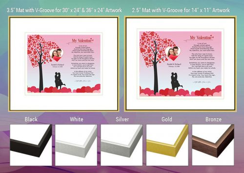 Valentine Heart Tree Frame and Mat Choices