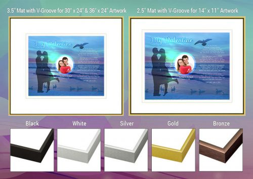 Valentine Sunset Beach Frame and Mat Choices