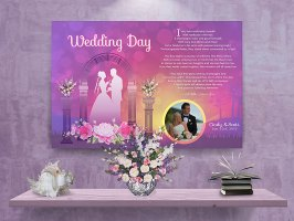 Sunset Arch Personalized Wedding Art Poem Canvas Print with Canvas Gallery Wrapped Edge