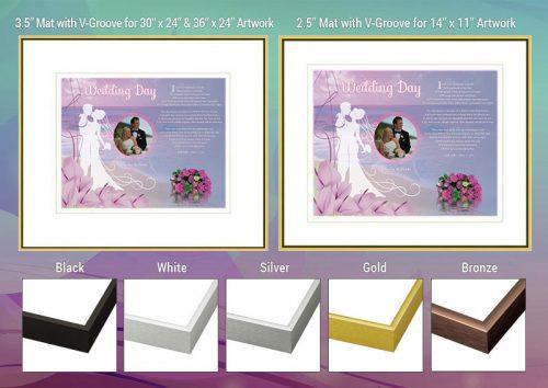 Wedding Beach Frame and Mat Choices