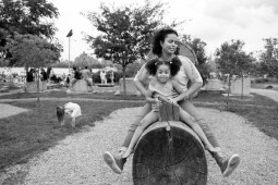 Evelyn and Lailah in park
