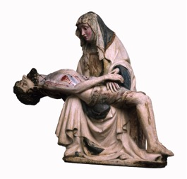 Unknown (Northern European), Pietà, chalk stone, 1410-20, H: 65.5 cm, Compton Verney Art Gallery