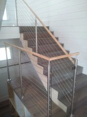 Cable Rail and Glass panel Staircase