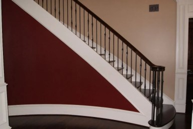 Curved Iron Baluster Staircase 34