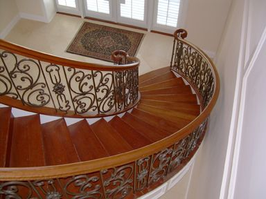 Curved Iron Scroll Staircase 17