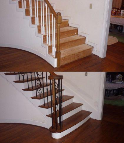 Curved Stair Remodel Charleston