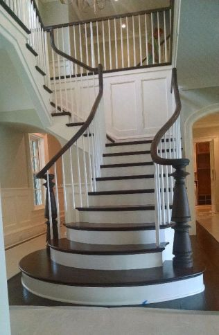 Curved Staircase Flare