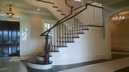 Flare with full taper wood balusters