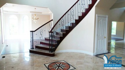 Curved Staircase with Stone treads 5