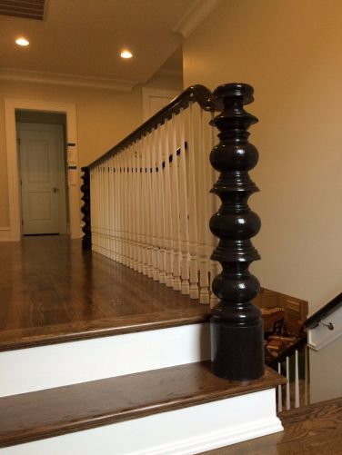 Custom Newell and Millwork for Handrail