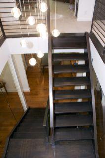 Dark Modern Iron Rail Stair 1