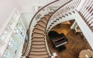 Double Open Curved Stairway