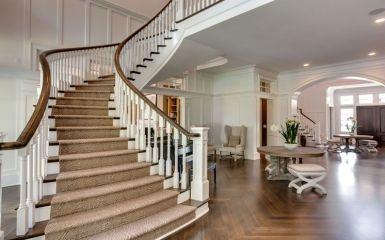 Double Open Curved Staircase