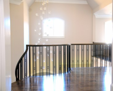 Custom Stairs with Iron Baluster