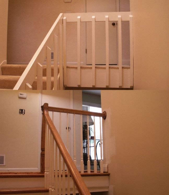 Stairway Before and After