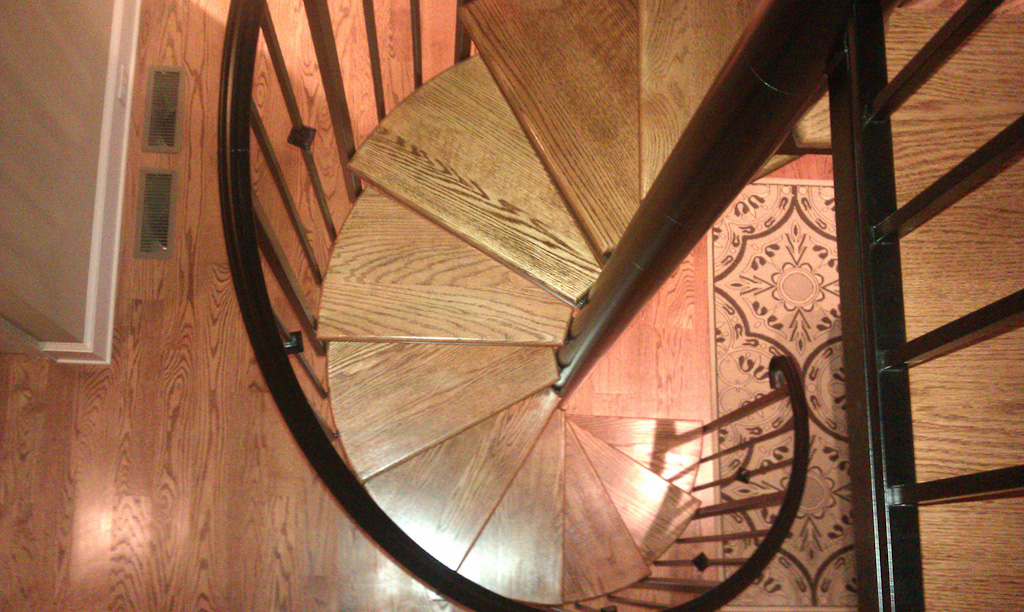 Iron spiral staircase by Vision Stairways