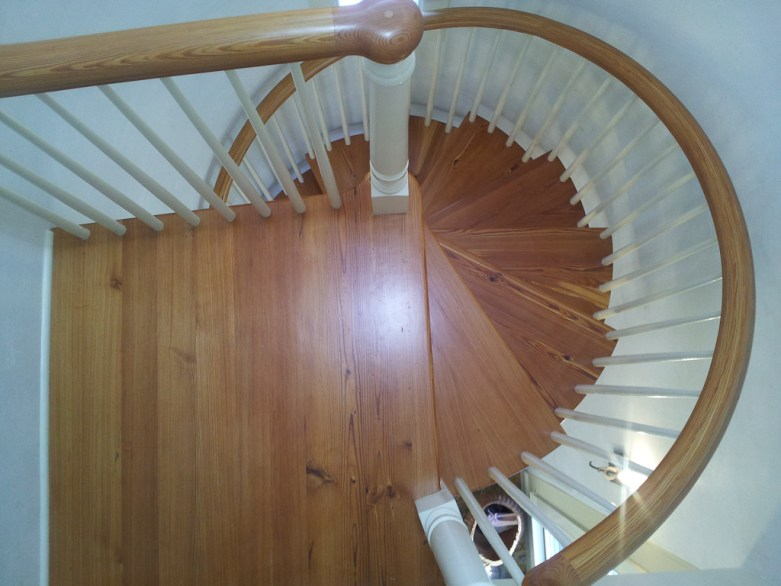 All Wood spiral stair remodel