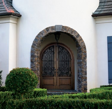 05 - Arched top Mahogany Double door with Iron