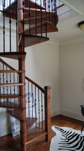 Red Oak Spiral Staircase
