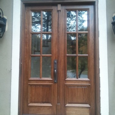 18 - Mahogany 6 lite door with Special Walnut stain