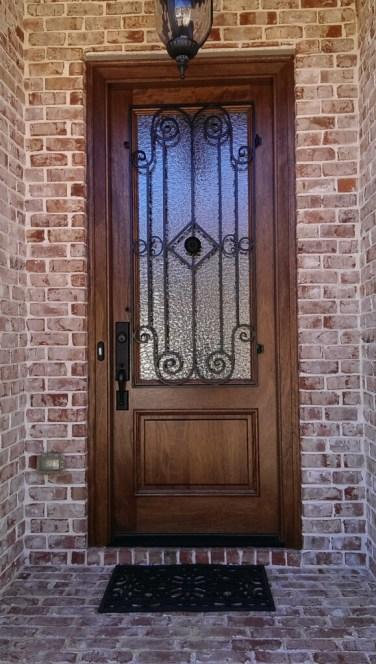 20 - Mahogany single door with Madelaine Iron
