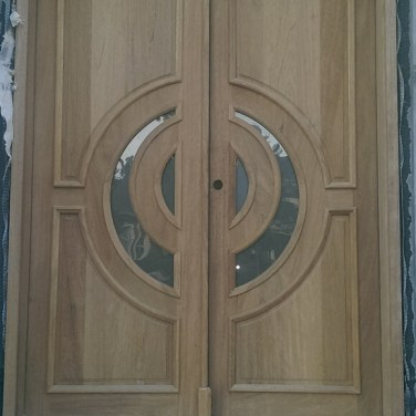 21 - Mahogany custom Double door