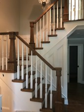 22 - Modern Farmhouse Stair with Taper newel post