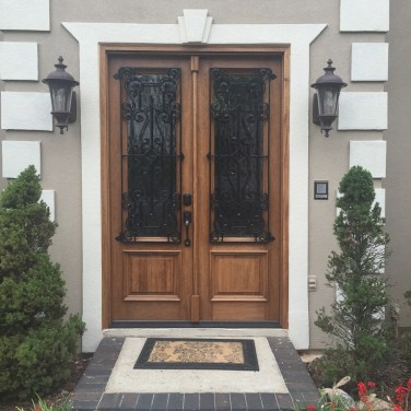 26 - Double Mahogany Door with Cortez Iron