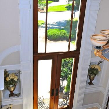 36 - Double Mahogany doors with 8_ radius transom