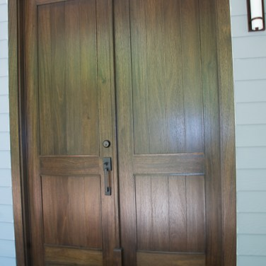 39 - Mahogany solid double doors with Ebony stain