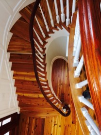 Heart Pine classic Curve stairway