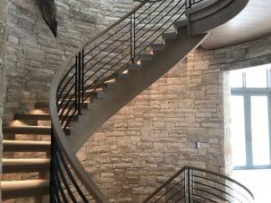 Modern Farmhouse Curved Stair