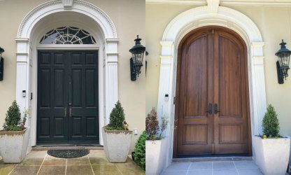 Custom-Walnut-Rounded-Door-Before-and-After