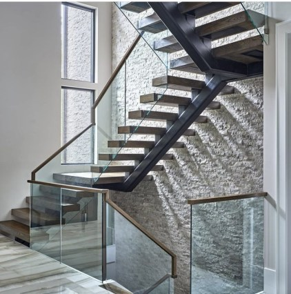 Modern Stairs with Glass