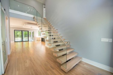 85 -Straight Staircase Remodel Modern