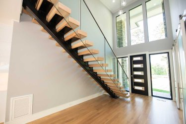 86 -Straight Staircase Remodel Modern