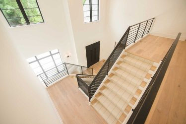 81 -Straight Staircase Remodel Modern