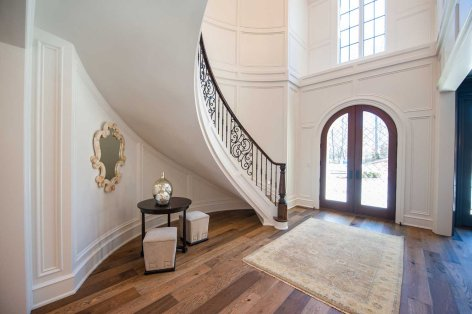 87 -Curved Staircase Remodel Modern