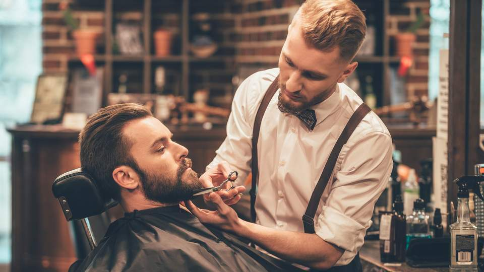 mens in barbershop