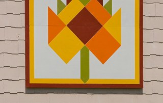 Geometric Leaf Barn Quilt