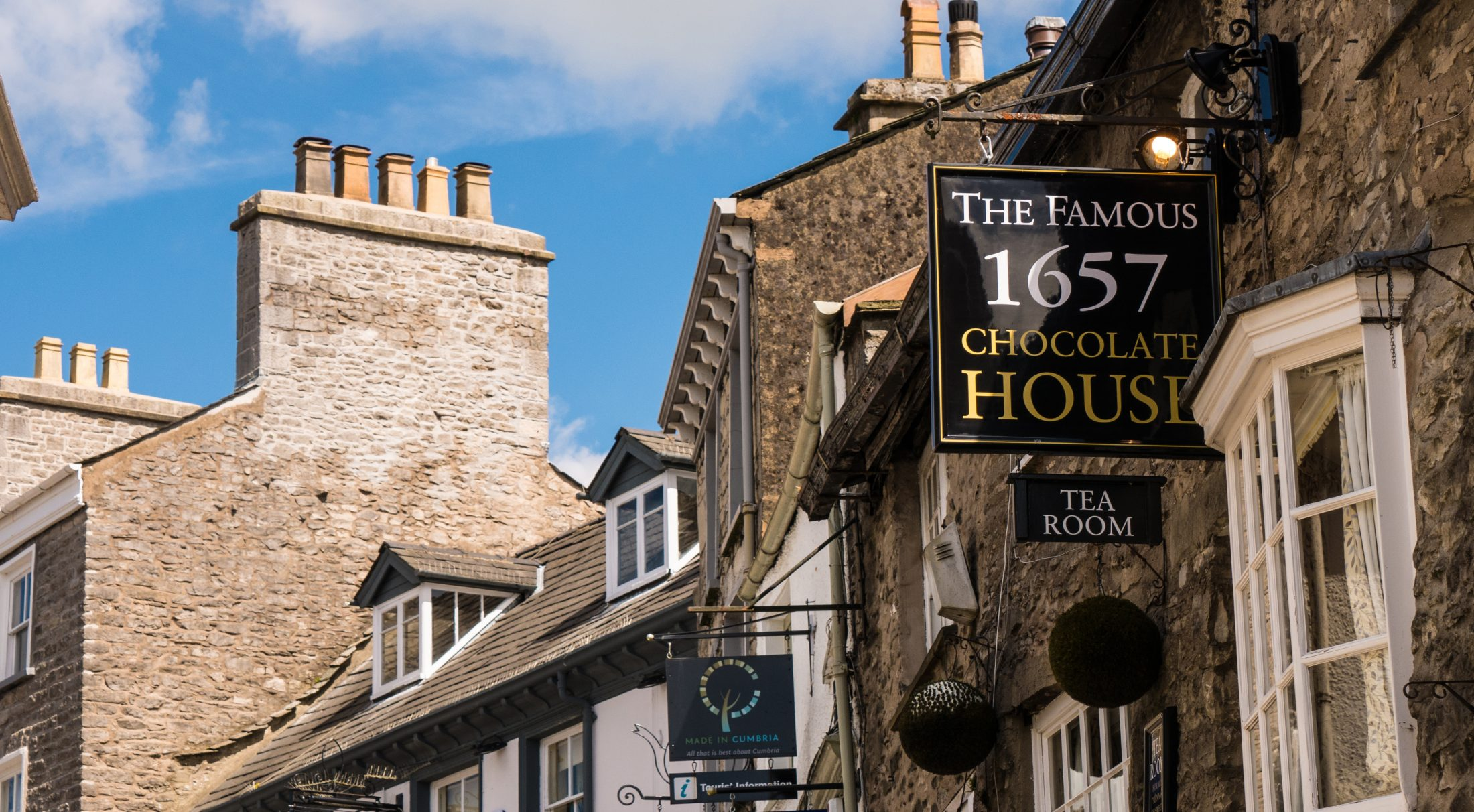 1657 Chocolate House dates from the 1630s on the cobbled streets of Branthwaite Brow and