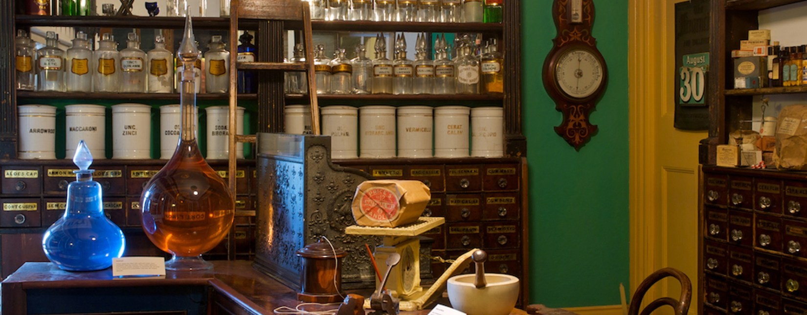 The chemist shop in the Museum of Lakeland Life and Industry Kendal