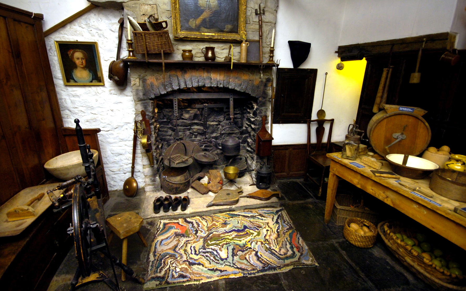 A typical Cumbrian farmhouse kitchen in the 18th centure at the Museum of Lakeland Life and Industry Kendal