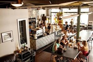 Inside a Minneapolis coffee shop