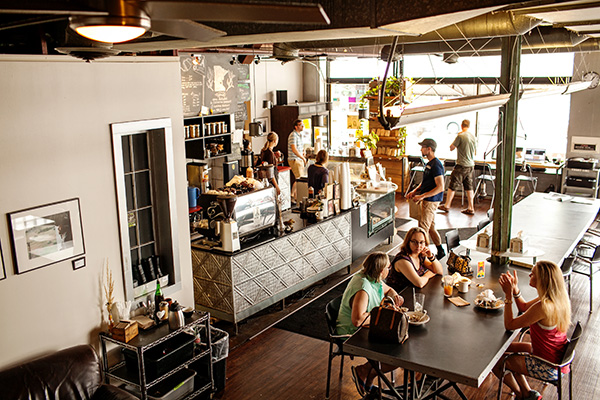 Inside Vicinity Coffee's Nicollet Avenue location