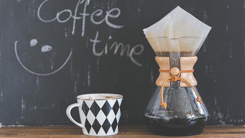 Coffee shop pour over and mug