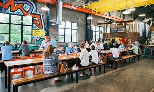 Bauhaus Brewery interior