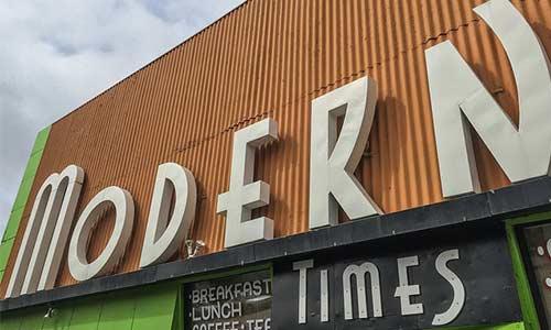 Modern Times Cafe Sign